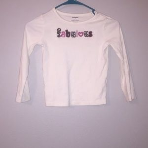 A Gymboree long sleeve white shirt